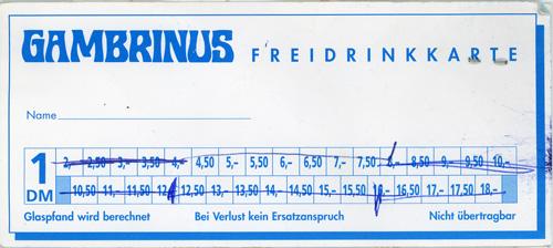 Gambrinus Freidrinkkarte